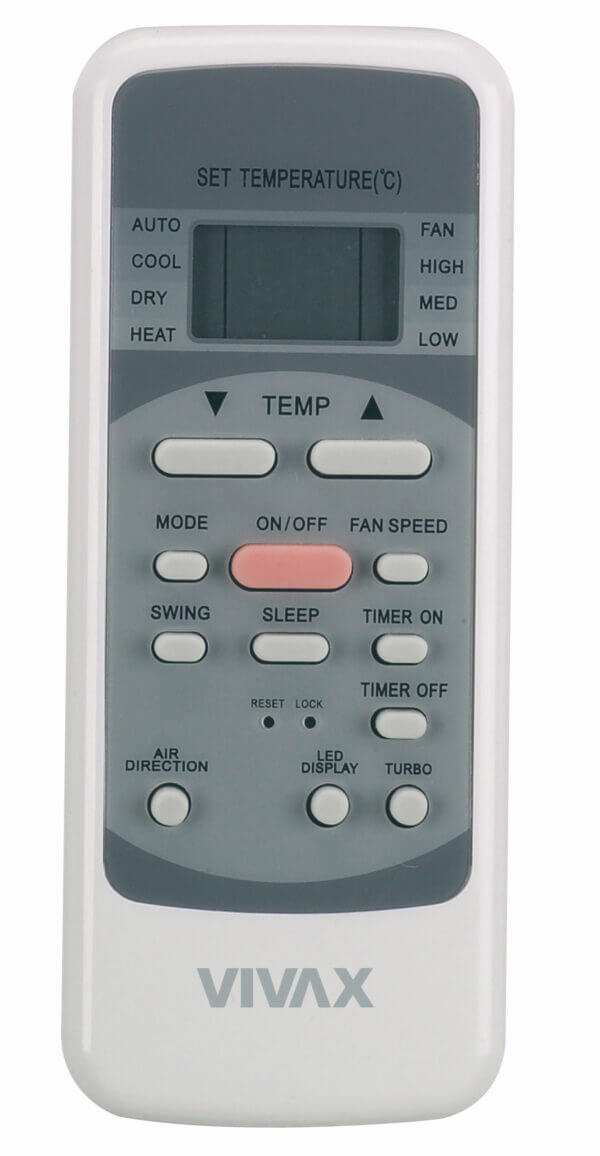 Led afstandsbediening mobiele airco